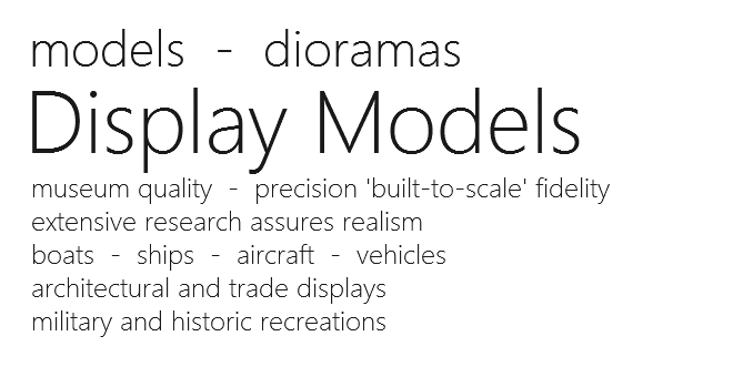 Display Models - front page jpeg